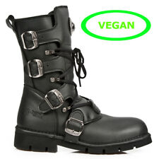 New Rock Vegane Gothic EBM Metal Ranger Army Armee Biker Boots Stiefel M.1473-V1