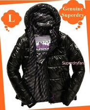 £95 ~L ~ GENUINE Superdry NEW Women's Ultralite Intrepid jacket - Black