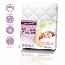 EXTRA DEEP 30CM/ 12, Deep SOFT NEW QUILTED/ FITTED BED COVER/ MATTRESS PROTECTOR