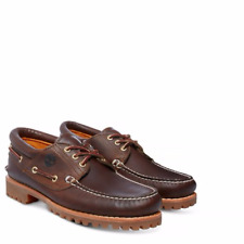 Timberland Mens 3 Eye  Trad Lug  Brown Leather Boat Lace Up Shoe 30003 rrp £140