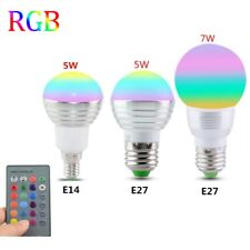 E27 E14 LED RGB Light Bulb Lamp 85-265V 110V 120V 220V Spotlight IR Remote Contr