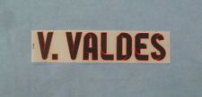 ''V.VALDES'' Official Barcelona Football Shirt Away Adult Name Block  2012/13