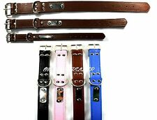 Strong Dog Leather Collar Adjustable Collar for Puppy Small Medium & Large Size