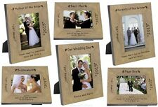 PERSONALISED Wooden Oak PHOTO FRAME for Wedding Day Party Role THANK YOU Gifts