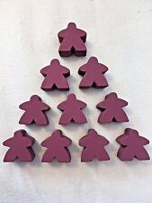 Wooden Meeples / Carcassonne Spares / Purple - 16mm x 10pc - UK SELLER! Free P&P