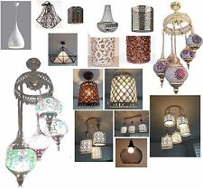 Ceiling shade Moroccan Vintage Retro Crystal Modern Bronze Antique Pendant