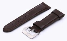 Brown Genuine Leather Strap/Band Buckle for Officine Panerai Watch 20 22 24 26mm