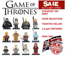 Game of Thrones Minifigure Khaleesi Drogo Jon Snow Mini Figure Minifigures
