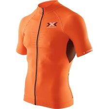 X-bionic The Trick Bikeshirt, short, FullZip, orange Herren, UVP: 159,- €