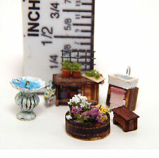 1/144th Scale Dollhouse Miniature Garden Patio Furniture Handcrafted Tiny Detail