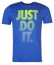 Nike Just do it Herren T-Shirt Shirt Blau alle Größen Neu mit Etikett
