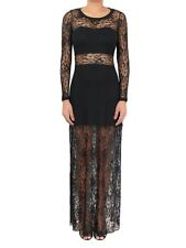 Womens Ladies Evening Party Prom Cocktail Long Sleeve Floral Lace Maxi Dress