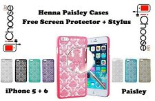 Paisley Case/Cover for Apple iPhone 5 5s 6s + Samsung Galaxy S5 J1 / Hard Back