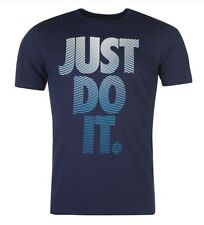 Nike Just do it Herren T-Shirt Shirt Navy Blau Weiß alle Größen Neu mit Etikett