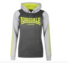 Lonsdale London Sudadera Con Capucha De Mujer Suéter Jersey Gris