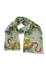 Gucci Schal Stole Foulard % Gucci Bengal Frau Made Italy Beige 4513034G865-1475