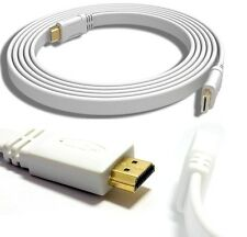 1m to 10m LONG FLAT HDMI Cable High Speed With Ethernet FULL HD 4K 3D ARC GOLD