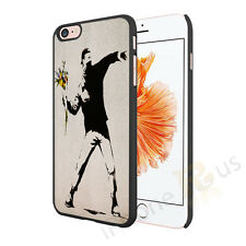 Banksy Flower Thug Case Cover For Apple iPhone Samsung HTC Sony All Top Brands