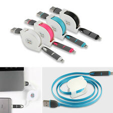 Unique Micro Usb + 8pin 2 in 1 Sync Usb Data Charging Cable for iPhone & Android