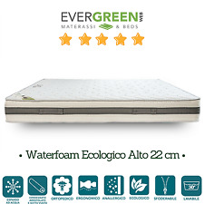 Materassi in Waterfoam Ecologico H22 Ortopedico Sfoderabile Bianco Evergreenweb