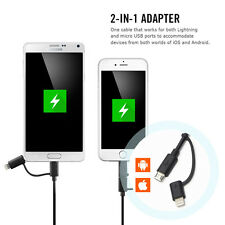 Apple MFI Certified Lightning to USB Sync Charger Cable For iPhone Samsung LG