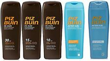 Piz Buin IN SUN LOTION Suntan Lotion or Aftersun 200ml each (pack of 2) choose
