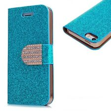 Bling Diamond Glitter Crystal Wallet Stand Case Cover for iPhone 4 4S 5 5S UK