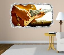 3D Adhesivo De Pared Guitarra Country Guitarrista Música Atravesado 11N297