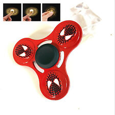 Glowing Hand Spinner Tri Fidget Ceramic Ball Desk Focus Toy EDC For Kids Adults