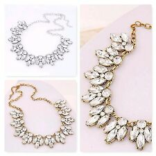 FASHION WOMEN CRYSTAL BIB COLLAR STATEMENT PENDANT CHAIN CHOKER NECKLACE JEWELRY