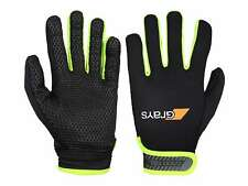 Grays G500 Gel Hockey Gloves - Black/Neon Yellow (2018/19), Free, Fast Shipping