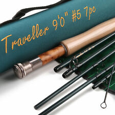 Maxcatch Fly Rod Traveller 9FT 5/6/7 Weight 7 Pieces Fast Action Fly Fishing Rod