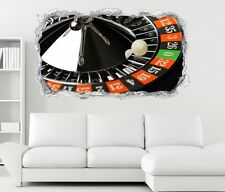 3D Adesivo murale Roulette Casino Gioco Fortuna Zero Parete Breakthrough 11N575
