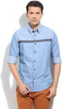 United Colors of Benetton Mens Printed Casual Blue Shirt(Flat 50% OFF) -93P