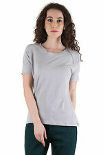 CHIMERA Grey Half Sleeve Solid 100% Cotton Round Neck T Shirt CHC1109AGRY
