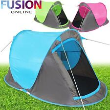 Pop Up Tent 2 Man Person Hiking Camping Festival Beach Quick Instant Fast Pitch