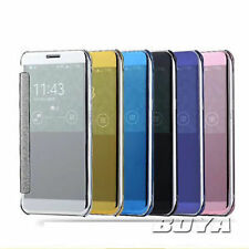 Luxury Clear-S-View Mirror Flip Flap Cover Case for Samsung J5 Prime