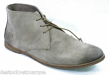 KICKERS RIVER Chaussures homme gris beige cuir nubuck taille 45