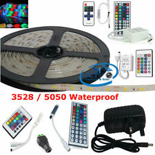 3528 / 5050 Waterproof  Single Colour RGB LED Light Strip Set & All Accessories