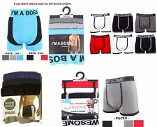 3 Pairs Mens Seamless Boxer Shorts Trunks Briefs Adults Wild Designer Underwear