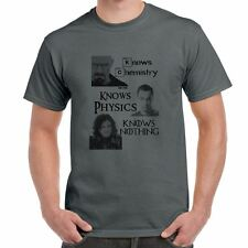 Jon Snow-Knows Nothing-Game Of Thrones Inspired tshirt-Mens Funny Sayings Tee