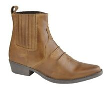 Gringos Western Biker American Style Genuine Leather Cowboy Boots Brown Distres