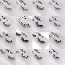 Curling 3D Mink Thick False Fake Eyelashes Eye Lashes Ciglia Extension Makeup