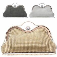 Ladies Diamante Clutch Bag Evening Bag Girls Prom Party Bag Handbag Purse M1600