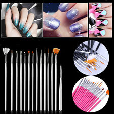 15Pcs/Set Nail Art Acrylic UV Gel Design Brush Set Painting Pens Tips Tools Kit