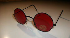 JOHN LENNON ROUND BEATLES STYLE SUNGLASSES FANCY DRESS VINTAGE GLASS RED YELLOW
