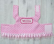 Handmade Dog Harness with personalised name - puppy chihuahua small breed pink