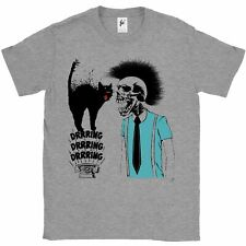 Mohican Skeleton & Ringing Phone Scared Black Cat Mens T-Shirt