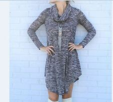New Fashion Long Sleeves Knitting Mini New Style Round Neck Dress for Women