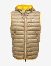 New Moncler Morellet Beige With Yellow Trim Down Fill Gilet Size 3 BNWT RRP £505